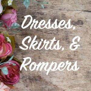 Dresses, Skirts, and Rompers